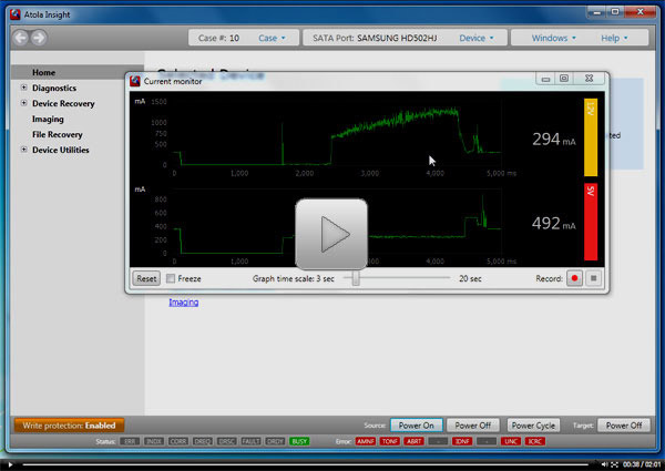 Atola Insight Video Tutorial - Oscilloscope